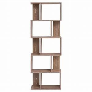 Meuble Bibliothèque Enfant : mobili rebecca bibliotheque meuble de rangement 5etag res bois brun design moderne chambre ~ Preciouscoupons.com Idées de Décoration