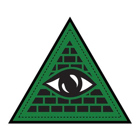 illuminati triangle illuminati triangle velcro patch by custom crowns
