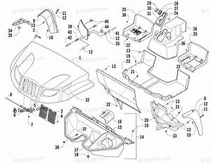Arctic Cat Side By Side 2008 Oem Parts Diagram For Front