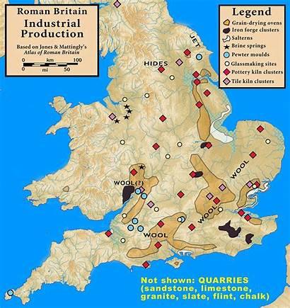 Britain Roman Production Map History Names Wales