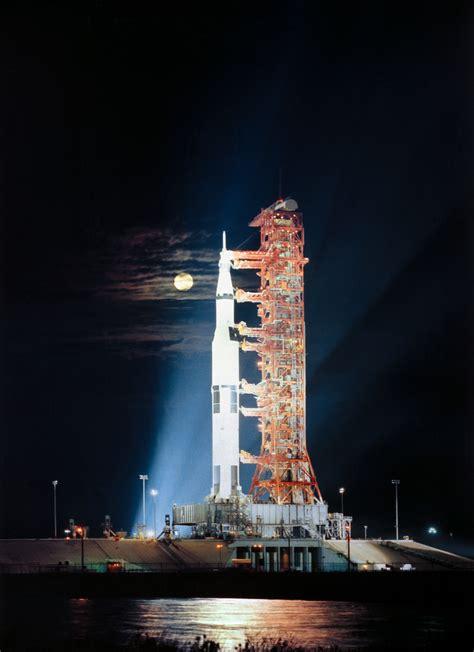 prelaunch apollo  rollout moon nasa science