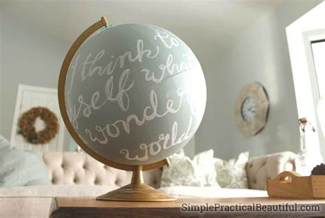 Home Interior Globes : Refinish An Old Globe With Chalk Paint