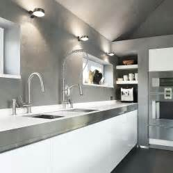 italian kitchen faucets beautiful modern kitchen with white cabinets stainless steel faucets and countertop decoist