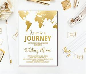 Travel Bridal Shower Invitations & Decor Ideas Mid-South