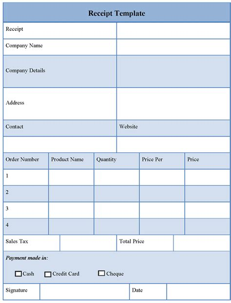 Receipt Template Free Receipt Template Of Free Receipt Sle Templates