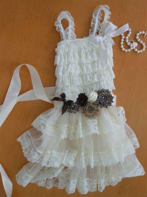 shabby chic flower dresses flower girl dress shabby chic lace dress ivory lace dress