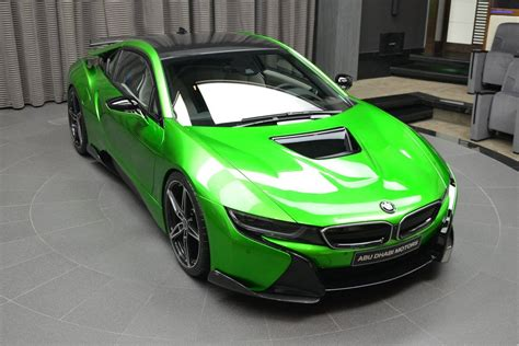 bmw  wearing bespoke lava green exterior ac schnitzer aero