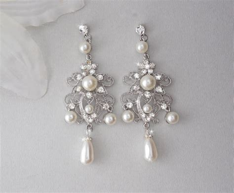 bridal earrings chandelier earrings wedding earrings