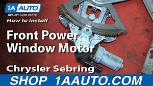 How To Replace Power Window Motor 01