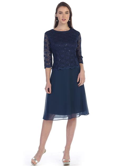 quarter sleeve lace overlay cocktail dress sung