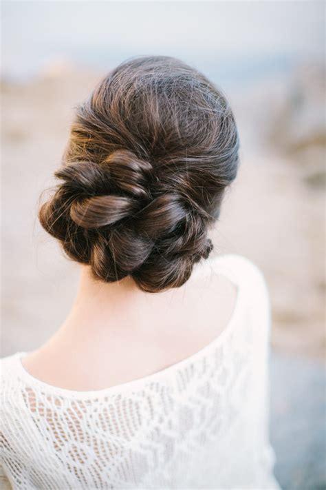 Bohemian floral wedding inspiration Bridal hairstyles