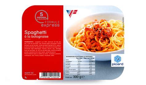 plat cuisiné picard spaghetti à la bolognaise surgelés les plats cuisinés