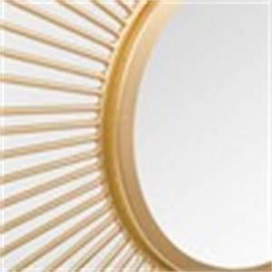 Spiegel Rund 70 Cm : runder spiegel aus metall vergoldet d 70 cm soledad maisons du monde ~ Bigdaddyawards.com Haus und Dekorationen