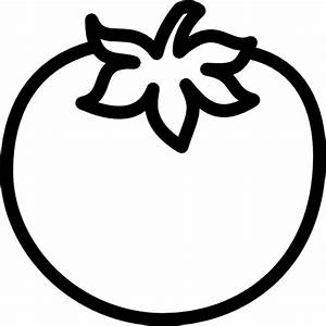 Tomato Clipart Black And White | Letters