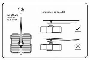 Diy White Hand Quartz Clock Movement Mechanism Replace