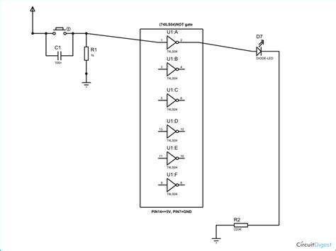 gate circuit diagram  working explanation
