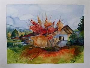 Bilder Bäume Gemalt : bunte bl tter im sonnigen herbst bilder aquarelle vom meer mehr von frank koebsch ~ Orissabook.com Haus und Dekorationen