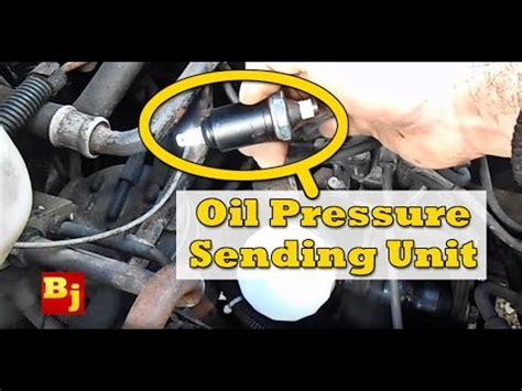 change  oil pressure sensor youtube