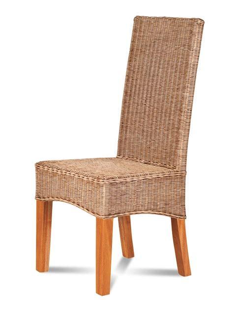 rattan dining chair light coloured weave dark legs