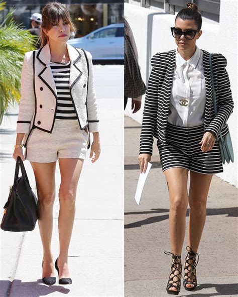 Celebrity Street Style - Kourtney Kardashian Loves To Show Her Stems In Shorts Suits!
