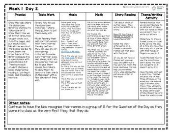 4 year preschool september lesson plans weeks 1 4 tpt 375 | original 4017594 3