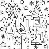 Winter Colouring Welcome Tips sketch template