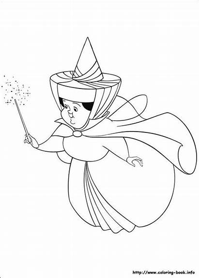 Sleeping Beauty Coloring Fairies Pages Drawing Person