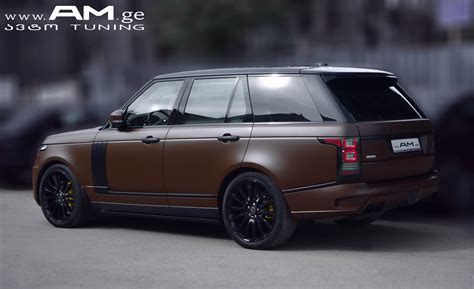 land rover brown range rover brown matte car wrapping auto am ge