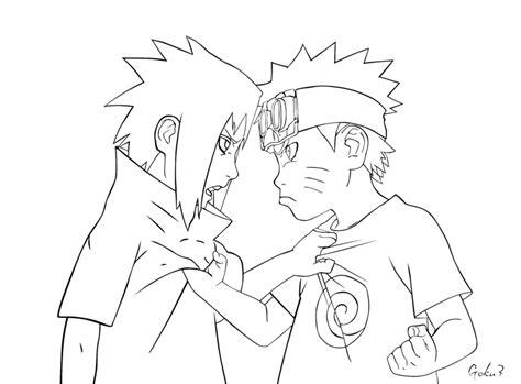 Kid Naruto And Sasuke Lineart By Goku003 On Deviantart