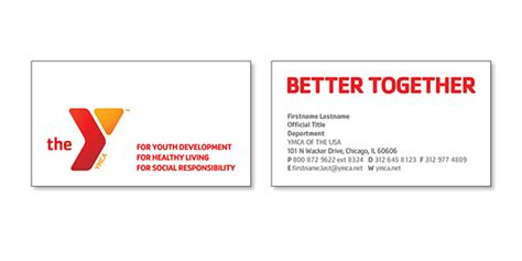 Business Card Layout For Ymca Of The Usa On Behance Business Card Template Publisher Letter Openers Size Jump Drive Cards Germany Houston For Students Artwork