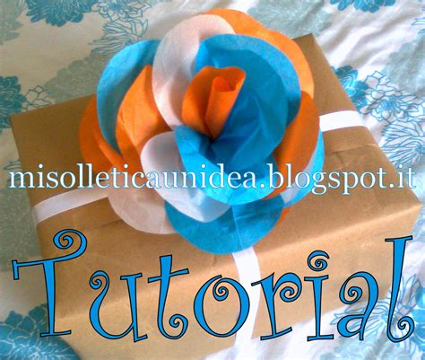 tutorial fiori di carta velina come fare fiore con carta velina tutorial