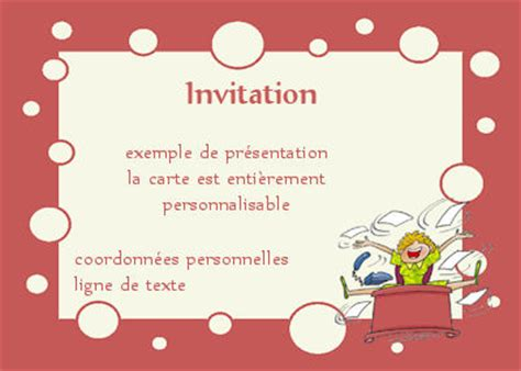 invitation pot de depart