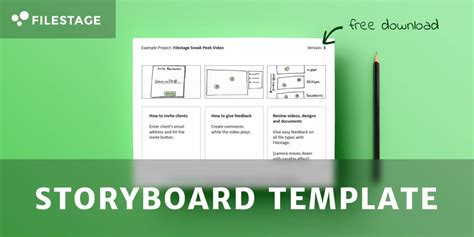 storyboard template   advertising bible