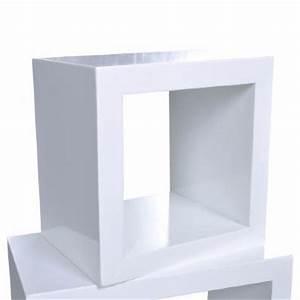 Etagere Cube But : lot de 3 tag re cube tag re design ciel et terre ~ Teatrodelosmanantiales.com Idées de Décoration