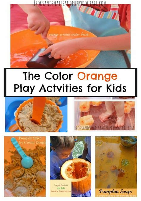 the color orange play actvities for best of 948 | 72a1203b4359349983b91932b5602478