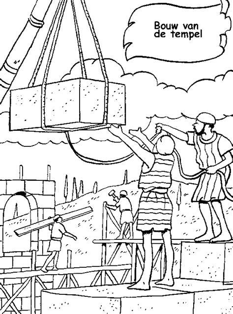Tempel Kleurplaat by Www Christiancomputergames Net Bouw Van De Tempel