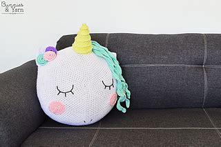 ravelry unicorn pillow pattern  michelle alvarez