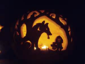 Wolf Halloween Stencil by Lil Red Ridin Hood Pumpkin By Tptrsn On Deviantart