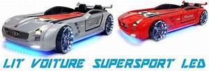 Lit Voiture Garcon : lit voiture supersport led voiture super sport led pour enfant pas cher ~ Teatrodelosmanantiales.com Idées de Décoration