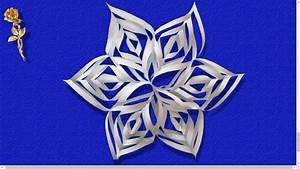 Flocon De Neige En Papier Facile Maternelle : flocon de neige en papier youtube ~ Melissatoandfro.com Idées de Décoration