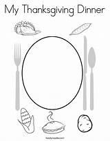 Coloring Thanksgiving Dinner Outline Twistynoodle Login Favorites sketch template