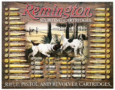 remington sporting cartridges tin metal sign ammo trap