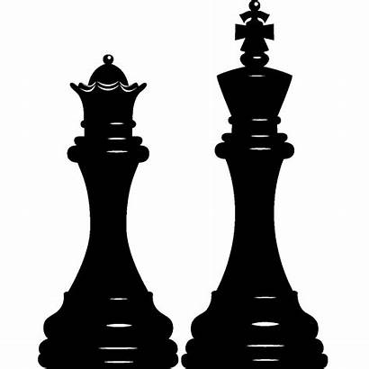 Chess King Piece Silhouette Clipart Clip Queen