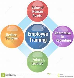 Employee Training Business Diagram Illustration Stock