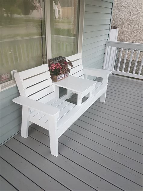 diy double chair bench  table ana white
