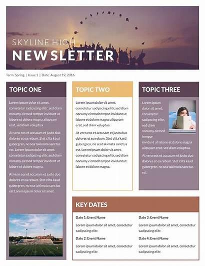 Newsletter Template Templates
