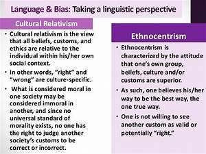 Both sides on P... Cultural Relativism