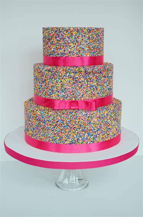 Pink Sprinkle Cake   CakeCentral.com