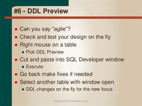 Top 10 Cool Features In Oracle Sql Developer Data Modeler