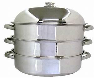Cuit Vapeur Inox : cuit vapeur ovale 2 paniers inox artame la casserolerie ~ Melissatoandfro.com Idées de Décoration